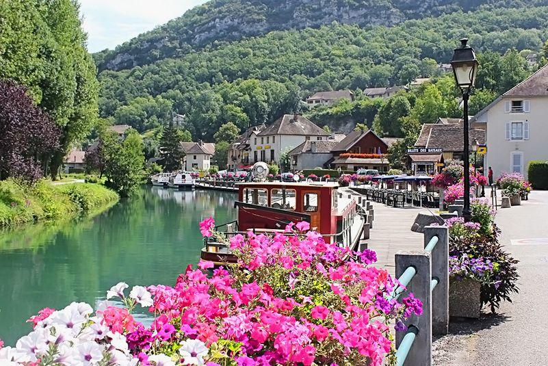 Французская деревня Chanaz - виртуальное фото-путешествие