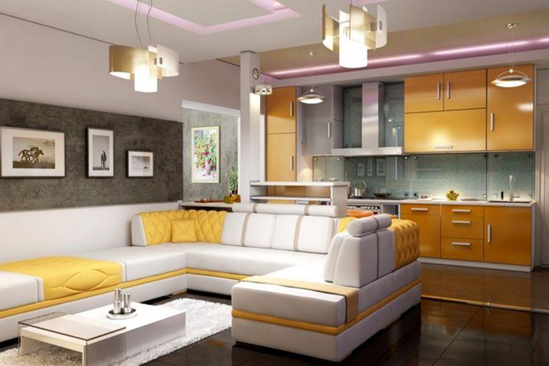 Современная кухня студия - советы и идеи оформления дизайна