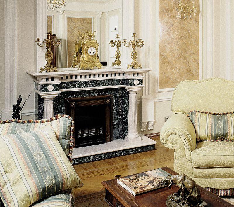 Мраморный камин в интерьере вашего дома
