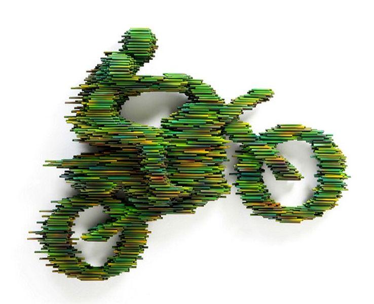 Cовременная скульптура в движении от Kang Duck-Bong