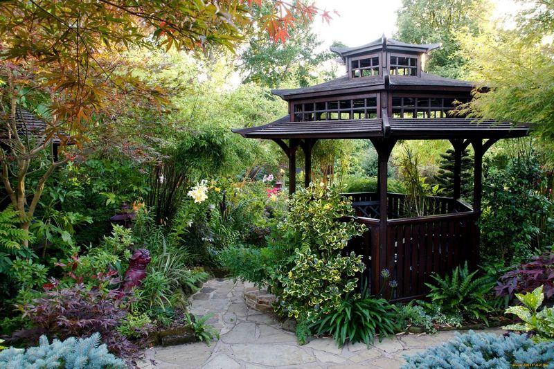 Красивые беседки для сада и заднего двора
