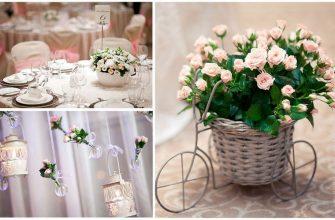 Красивый свадебный декор с помощью цветов