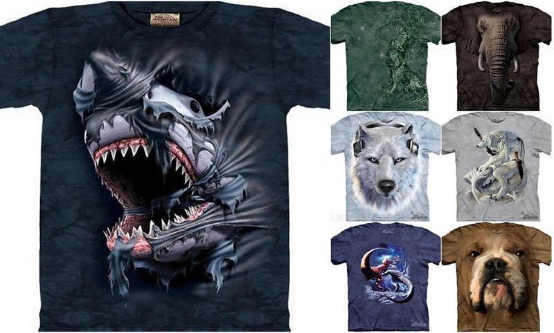 Креативные принты на футболки от компании The Mountain