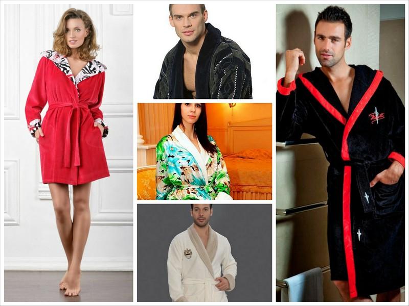 Модные мужские и женские халаты 2013 года