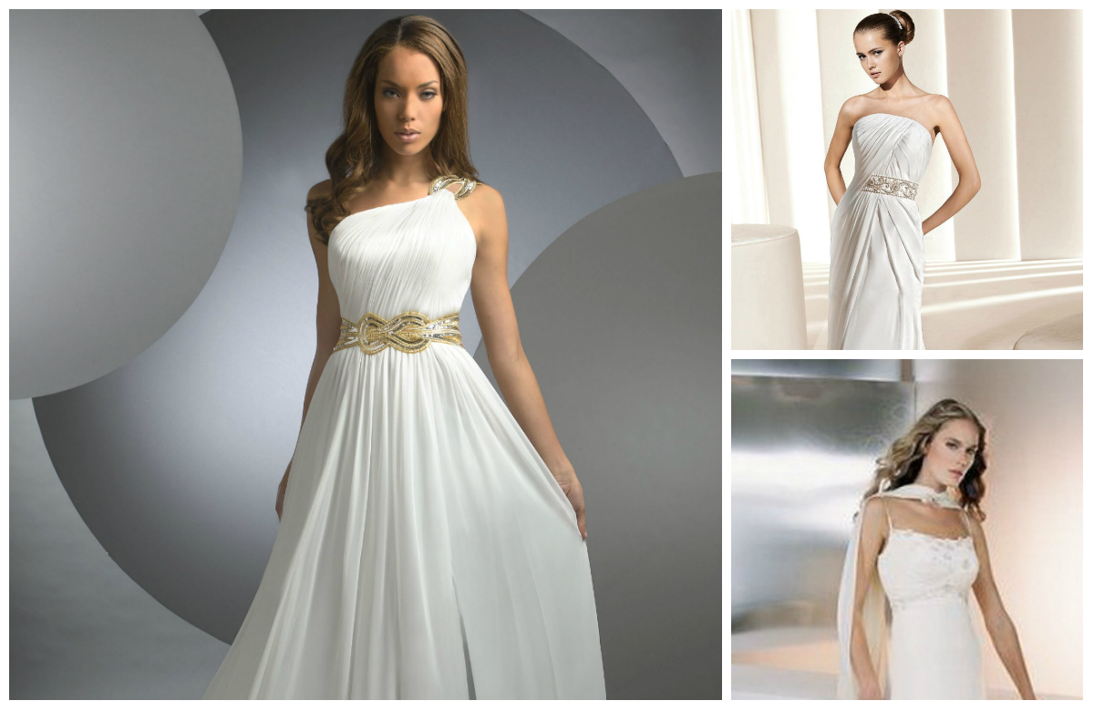Оригинальные свадебные платья в греческом стиле
