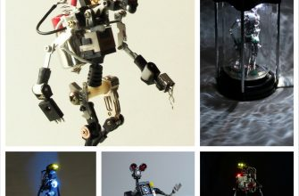 Электронные радиодетали, как маетриал для скульптур Marco Fernandes