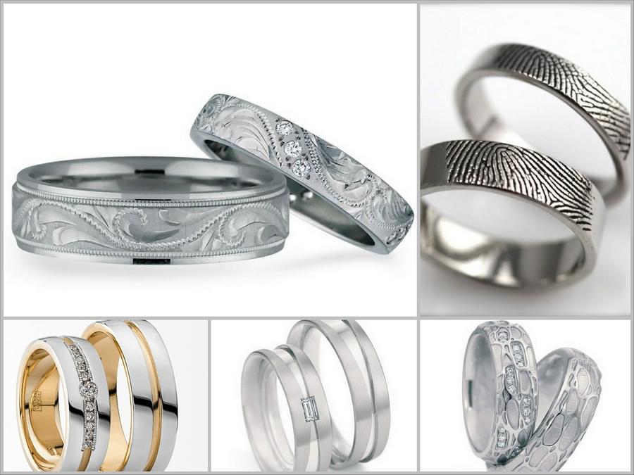 Красивые обручальные кольца из белого золота - модный тренд