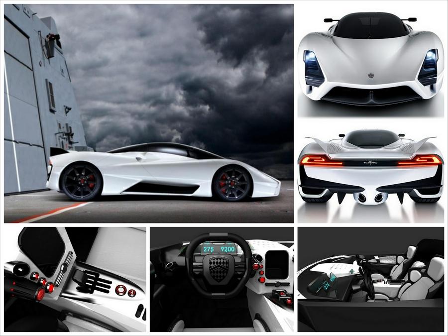 Лучший суперкар мира   авто SSC Tuatara 7.0 MT