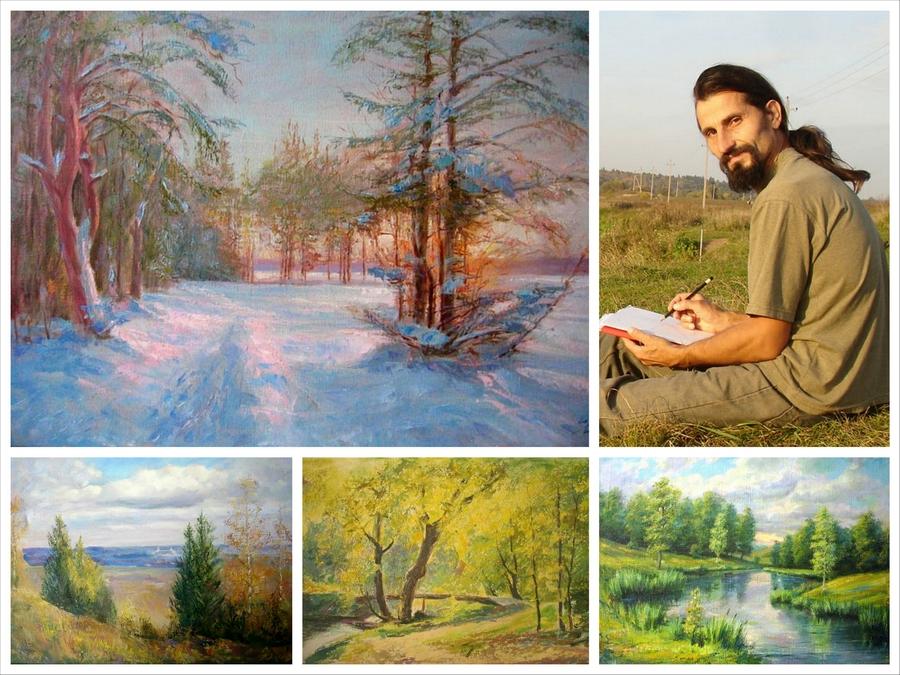 Пейзажи Подмосковья на картинах Ярослава Цико