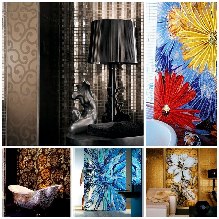 Стеклянная мозаика в интерьере вашего дома