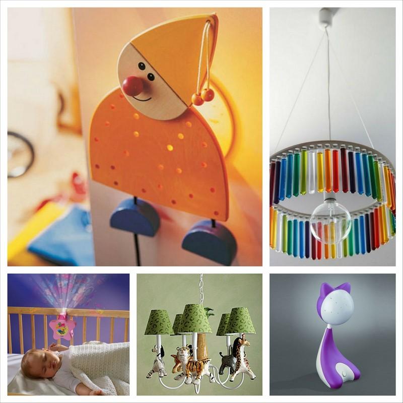 Красивые светильники в детскую комнату