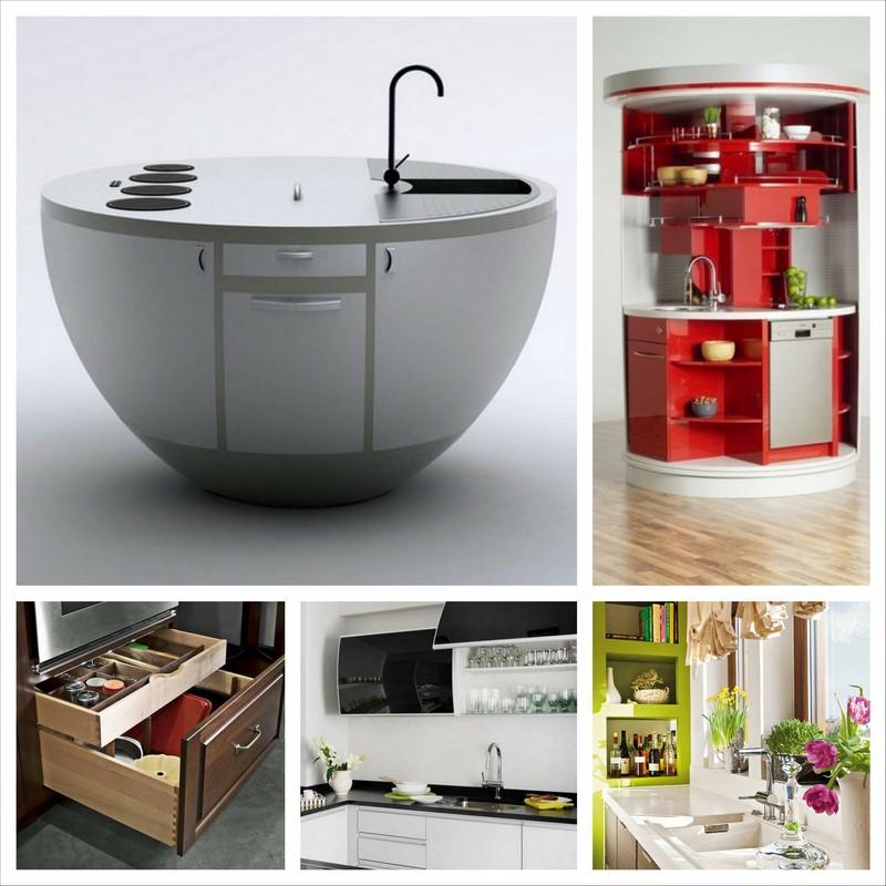 Удобная кухонная мебель для маленькой