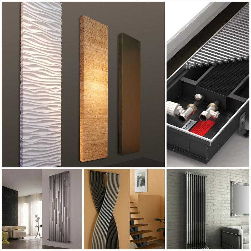Модные вертикальные радиаторы отопления в интерьере