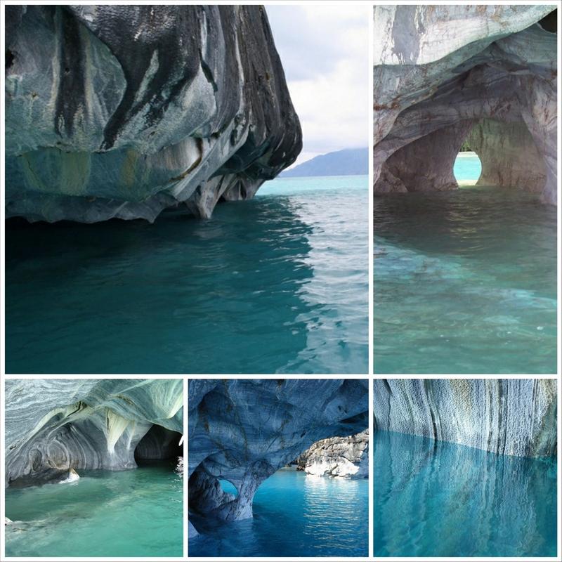 Мраморный собор - мраморные пещеры Чили