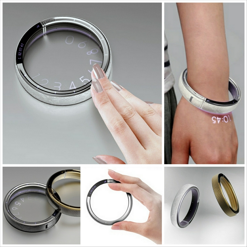 Концептуальный браслет-телефон Dial