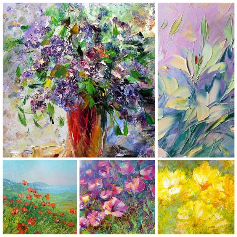 Натюрморты с цветами маслом в исполнении Владислава Кравчука