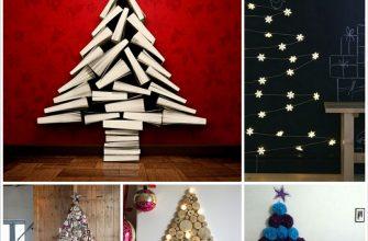 Альтернативные новогодние елки для малышей и взрослых