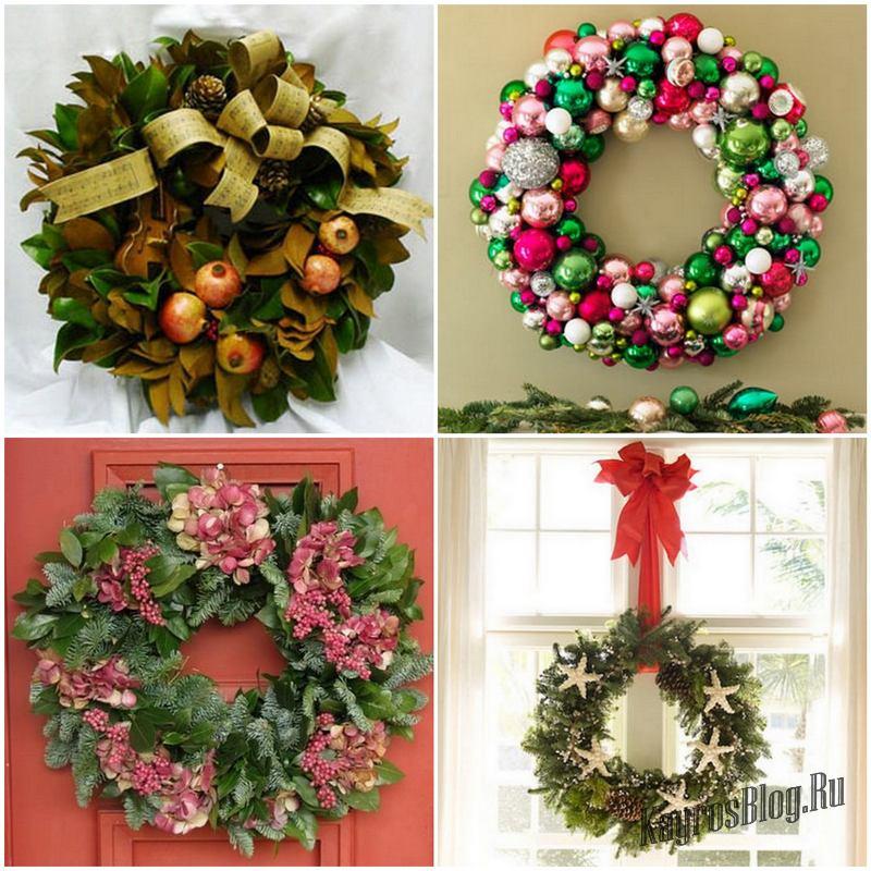 Новогодние и рождественские венки