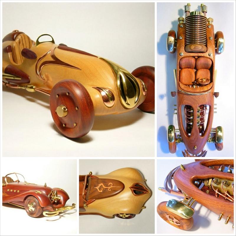 Модели машин из дерева от Андрея Момота