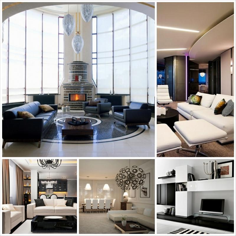 Современная дизайнерская мебель для гостиной