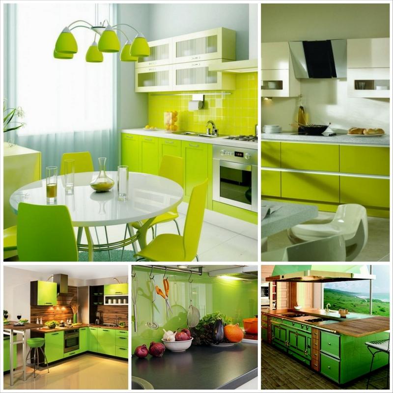 Интересный интерьер кухни