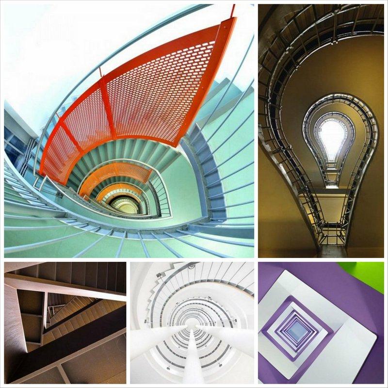 Креативные лестницы на фото Нильса Айсфельда