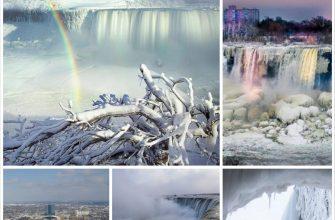 Ниагарский водопад полностью замерз