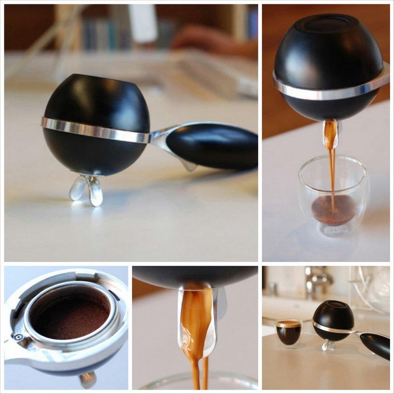 Первая в мире кофеварка портативная для эспрессо