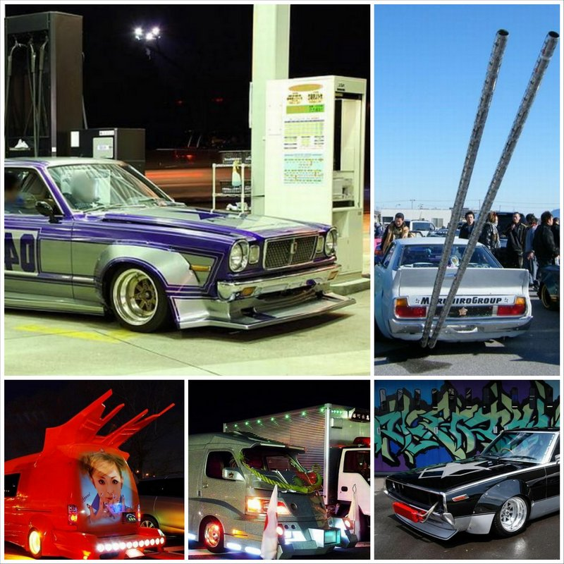 Bosozoku style - безумный тюнинг японских машин