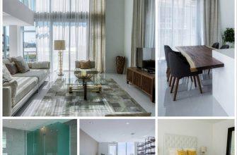 Интерьер двухуровневой квартиры в Майами