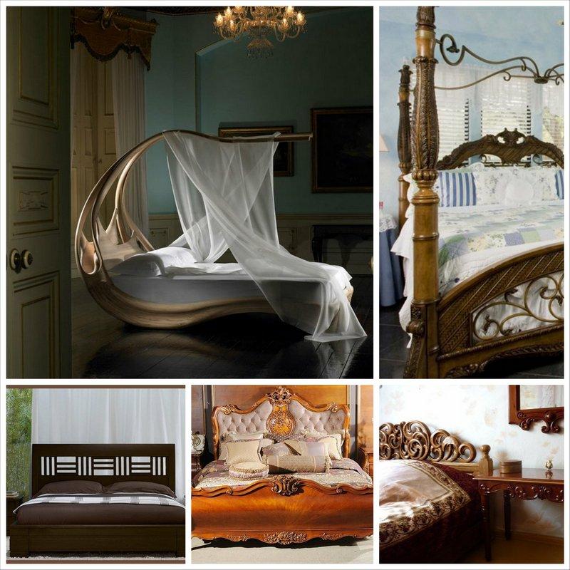 Кровать из массива дерева - модный мебельный тренд