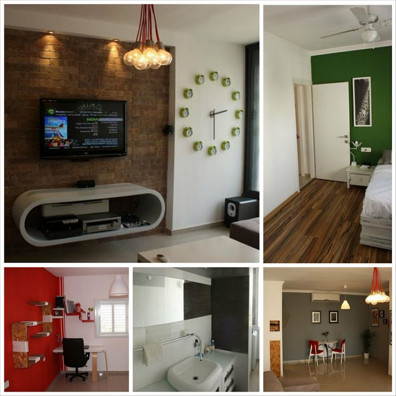 Новый дизайн интерьера однокомнатной квартиры в Тель-Авиве