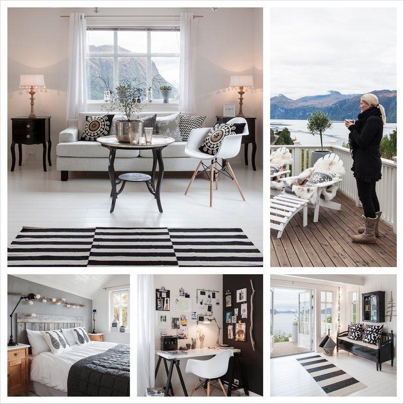 Стильный норвежский дом в черно-белой гамме 4