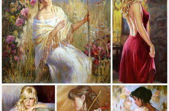 Женское платье в картинах художника Андрея Маркина
