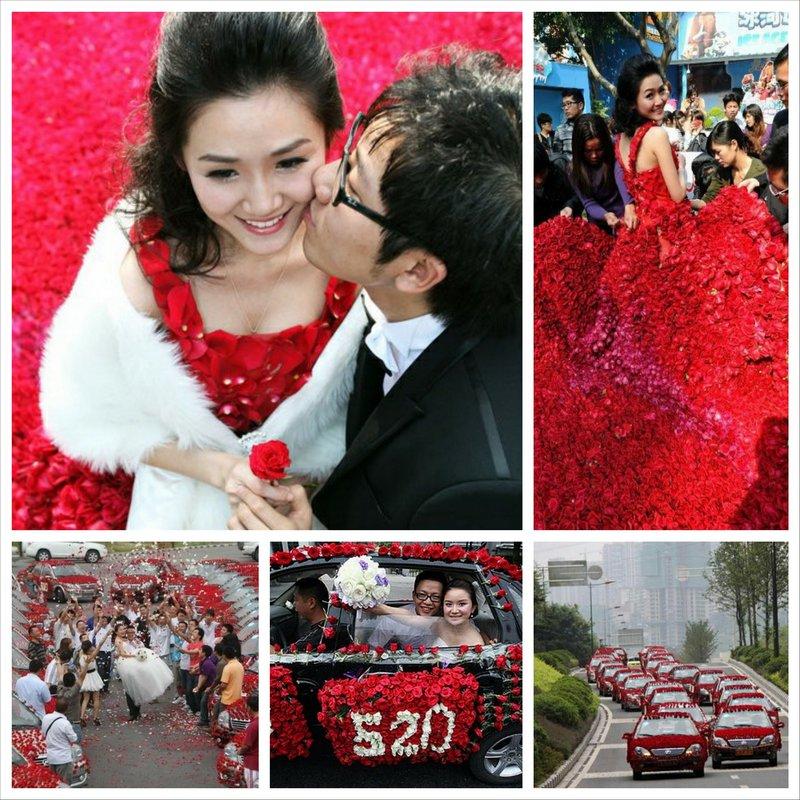 Самая красивая свадьба в мире или миллион алых роз