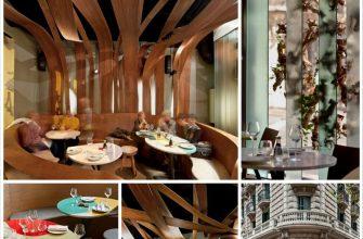 Интерьер ресторана Ikibana в стиле фьюжн