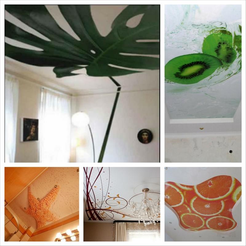 Дизайн натяжных потолков с фотопечатью и особенности его применения 2