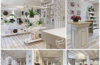 Интерьер цветочного магазина от студии Shmidt Studio