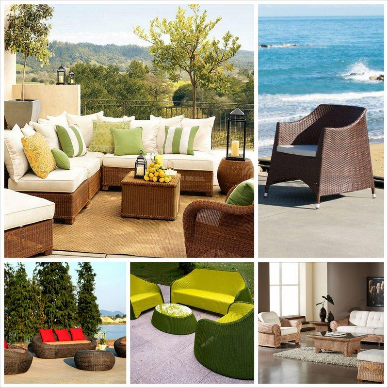 Мебель из ротанга в интертьере вашего дома