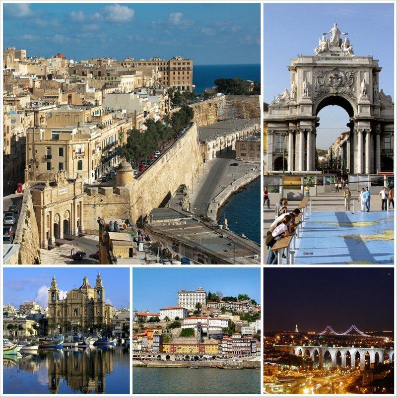 Самые красивые города мира - Валетта и Лиссабон