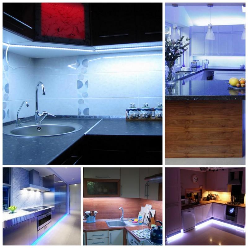 Как создать светодиодную подсветку на своей кухне
