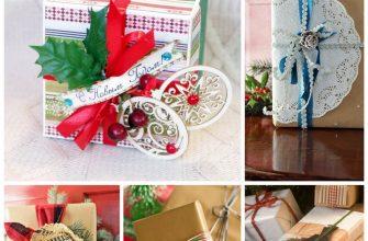 Новогодний дизайн упаковки подарков