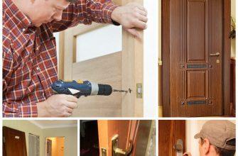 Установка деревянных дверей с коробкой