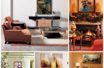 Картины маслом в современных интерьерах – красота, роскошь и стиль