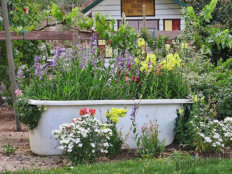 Ванная в доКлумба для цветов своими руками
