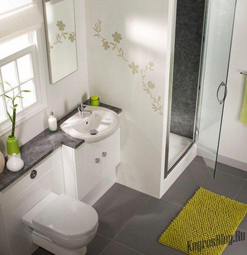 Ванная комната дизайн 1.7 на 1.5