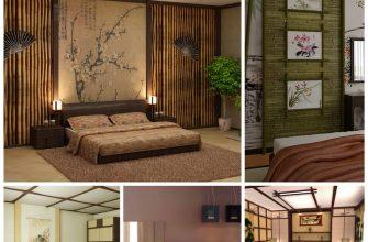 Интерьер спальни в японском стиле