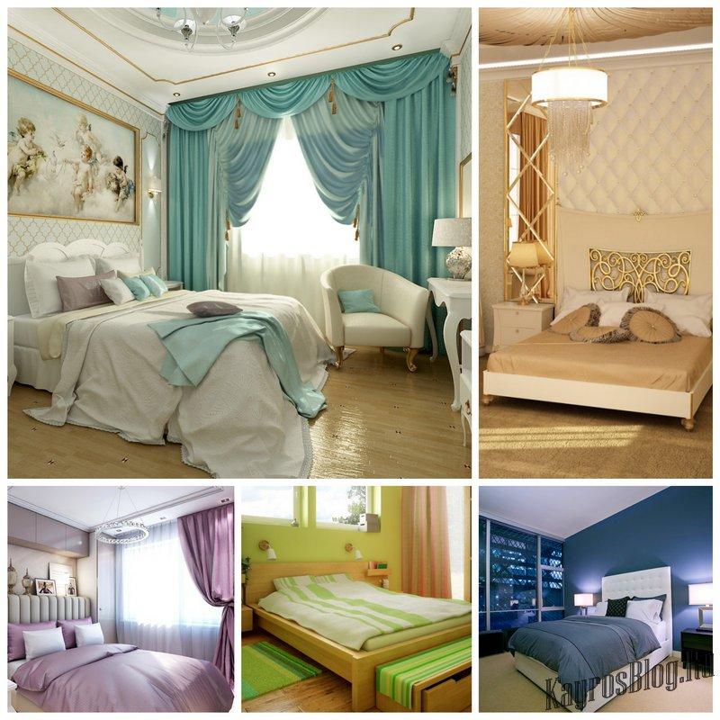 Правильное сочетание цветов в интерьере спальни