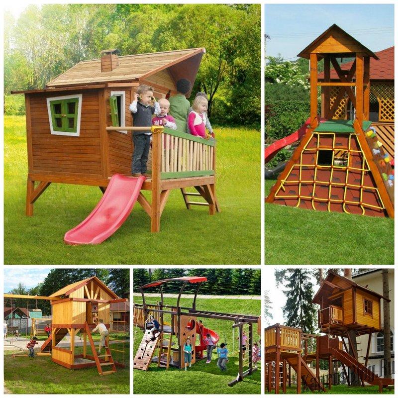 Строим детскую площадку на даче