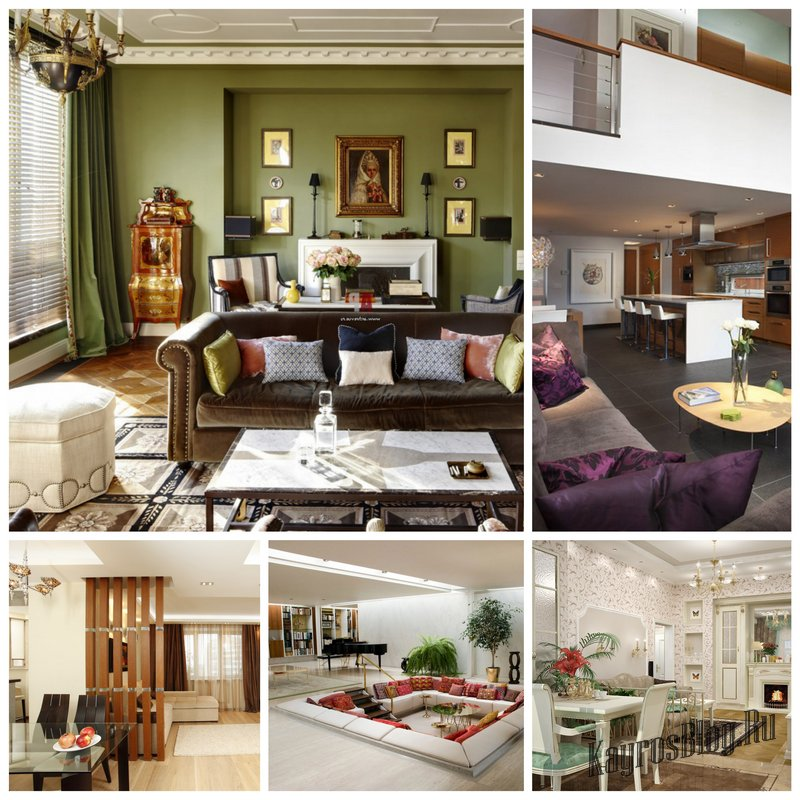 Четыре зоны в гостиной и их оформление